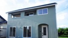 山梨市に建築中の大好きな自然素材の漆喰がこだわりのかわいい家 外装仕上げ3