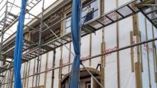 山梨市 大好きな自然素材の漆喰のこだわりのお家 外装工事2