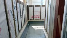 山梨市 大好きな自然素材の漆喰のこだわりのお家 外装工事4