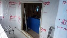 甲府市国母 漆喰と極厚フフローリングのカワイイお家 外装工事4