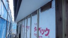 甲斐市 書斎からガレージが見えるインダストリアルデザインのお家 外装工事4