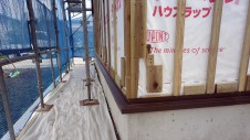 甲斐市 書斎からガレージが見えるインダストリアルデザインのお家 外装工事5