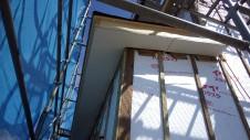 甲府市国母 漆喰と極厚フフローリングのカワイイお家 外装工事6