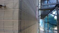 山梨市 大好きな自然素材の漆喰のこだわりのお家 外装工事8