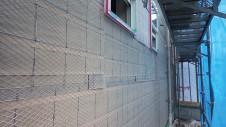 甲府市国母 漆喰と極厚フフローリングのカワイイお家 外装工事8