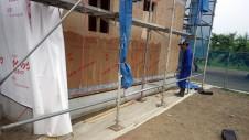 山梨市 大好きな自然素材の漆喰のこだわりのお家 上棟11