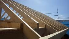 甲府市国母 漆喰と極厚フフローリングのカワイイお家 上棟12