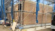 山梨市 大好きな自然素材の漆喰のこだわりのお家 上棟4