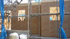 甲府市国母 漆喰と極厚フフローリングのカワイイお家 上棟4