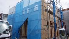 甲府市国母 漆喰と極厚フフローリングのカワイイお家 上棟5