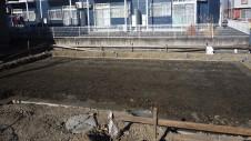 甲斐市竜王新町 自然素材にこだわるお家 基礎工事1