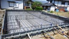 山梨市 大好きな自然素材の漆喰のこだわりのお家 基礎工事4