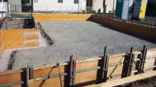 甲府市国母 漆喰と極厚フフローリングのカワイイお家 基礎工事4
