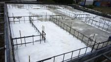 山梨市 大好きな自然素材の漆喰のこだわりのお家 基礎工事5