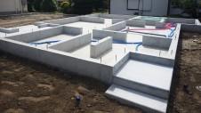 山梨市 大好きな自然素材の漆喰のこだわりのお家 基礎工事9