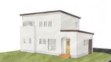 甲斐市 書斎からガレージが見えるインダストリアルデザインのお家