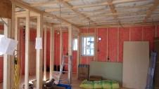 山梨市 大好きな自然素材の漆喰のこだわりのお家 内装工事5