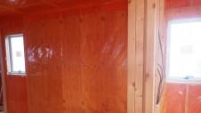 山梨市 大好きな自然素材の漆喰のこだわりのお家 内装工事10