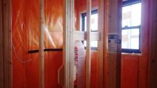 甲斐市 書斎からガレージが見えるインダストリアルデザインのお家 内装工事10