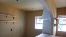甲府市国母 漆喰と極厚フフローリングのカワイイお家 内装工事11
