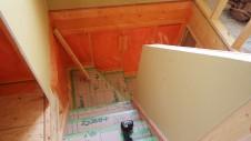 山梨市 大好きな自然素材の漆喰のこだわりのお家 内装工事13
