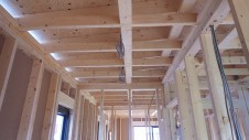 甲斐市 書斎からガレージが見えるインダストリアルデザインのお家 内装工事1