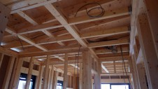 甲斐市 書斎からガレージが見えるインダストリアルデザインのお家 内装工事2