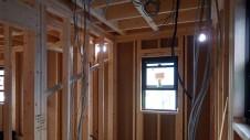 甲斐市 書斎からガレージが見えるインダストリアルデザインのお家 内装工事3