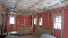 甲府市国母 漆喰と極厚フフローリングのカワイイお家 内装工事5