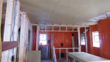 甲府市国母 漆喰と極厚フフローリングのカワイイお家 内装工事7