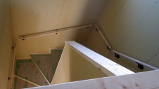 甲府市国母 漆喰と極厚フフローリングのカワイイお家 内装工事9