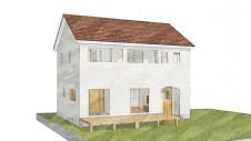 山梨市 大好きな自然素材の漆喰のこだわりのお家