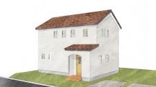 甲府市国母 漆喰と極厚フフローリングのカワイイお家