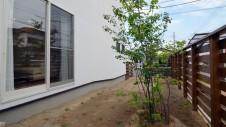 甲斐市に建つ自然素材にこだわるお家 ガーデニング