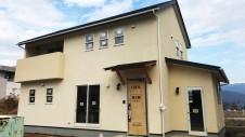 甲斐市に建つレザークラフト屋さんのかわいいお家 外装工事10