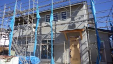 甲斐市に建つレザークラフト屋さんのかわいいお家 外装工事8