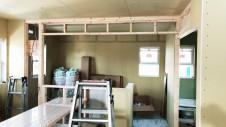 甲斐市に建つレザークラフト屋さんのかわいいお家 内装工事3