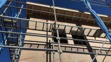 笛吹市に建つくつろぎのカフェスタイルのお家 外装工事1