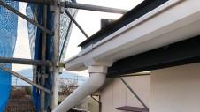 笛吹市に建つくつろぎのカフェスタイルのお家 外装工事8