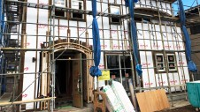 笛吹市に建つくつろぎのカフェスタイルのお家 外装工事5