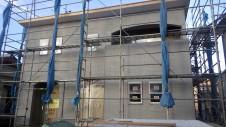 笛吹市に建つくつろぎのカフェスタイルのお家 外装工事6