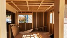 笛吹市に建つくつろぎのカフェスタイルのお家 上棟工事10