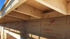 笛吹市に建つくつろぎのカフェスタイルのお家 上棟工事13