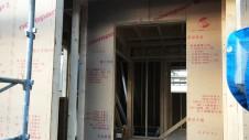 笛吹市に建つくつろぎのカフェスタイルのお家 上棟工事2