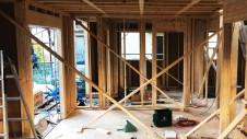 笛吹市に建つくつろぎのカフェスタイルのお家 上棟工事4