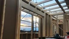 笛吹市に建つくつろぎのカフェスタイルのお家 上棟工事8