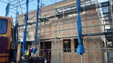 笛吹市に建つくつろぎのカフェスタイルのお家 上棟工事9