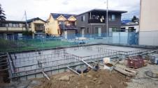 笛吹市に建つくつろぎのカフェスタイルのお家 基礎工事3