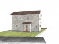 甲州市に建つ太陽光発電とお庭にこだわったお家 パース