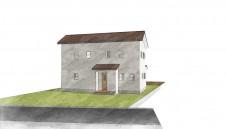 甲州市に建つ太陽光発電とお庭にこだわったお家:パース